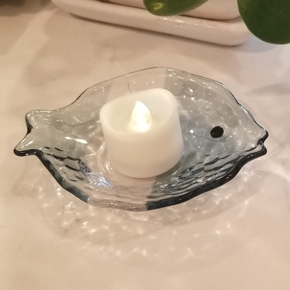 PartyLite Other - Set of 6 Partylite glass fish tealight holders